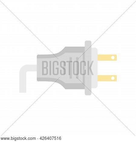 Us Plug Icon. Flat Illustration Of Us Plug Vector Icon Isolated On White Background