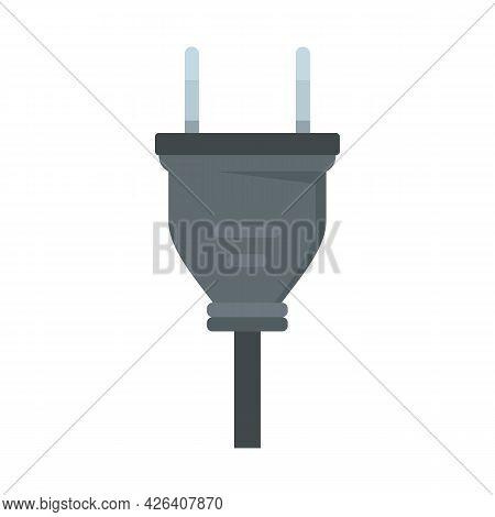Retro Wire Plug Icon. Flat Illustration Of Retro Wire Plug Vector Icon Isolated On White Background
