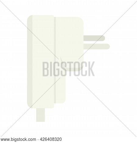 Air Conditioner Plug Icon. Flat Illustration Of Air Conditioner Plug Vector Icon Isolated On White B