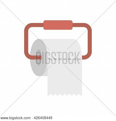 Toilet Paper Icon. Flat Illustration Of Toilet Paper Vector Icon Isolated On White Background