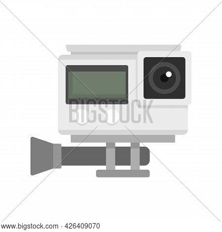 Digital Action Camera Icon. Flat Illustration Of Digital Action Camera Vector Icon Isolated On White