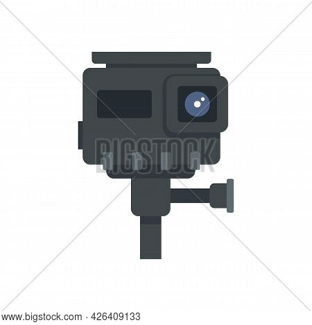 Hd Action Camera Icon. Flat Illustration Of Hd Action Camera Vector Icon Isolated On White Backgroun