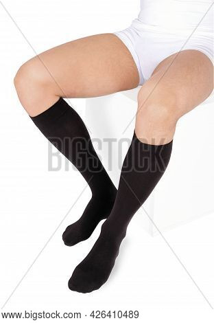 Closed Toe Calves. Compression Hosiery. Medical Stockings, Tights, Socks, Calves And Sleeves For Var