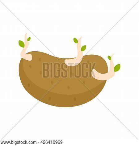 Garbage Potato Icon. Flat Illustration Of Garbage Potato Vector Icon Isolated On White Background