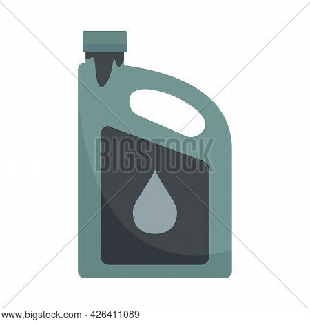 Used Motor Oil Canister Icon. Flat Illustration Of Used Motor Oil Canister Vector Icon Isolated On W