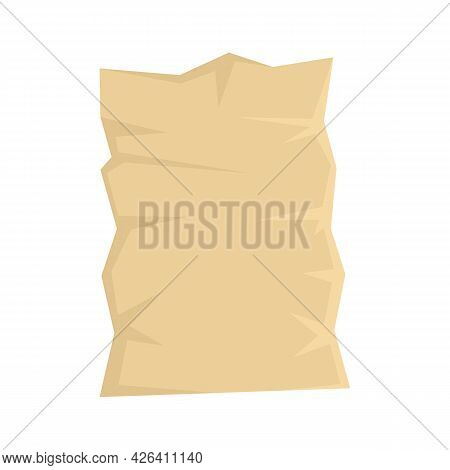 Used Eco Paper Pack Icon. Flat Illustration Of Used Eco Paper Pack Vector Icon Isolated On White Bac