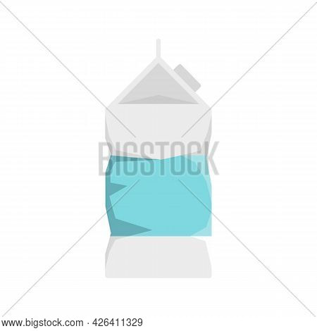 Used Milk Package Icon. Flat Illustration Of Used Milk Package Vector Icon Isolated On White Backgro