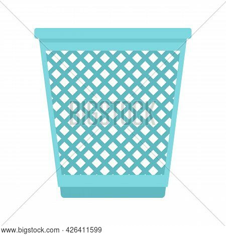 Garbage Basket Icon. Flat Illustration Of Garbage Basket Vector Icon Isolated On White Background