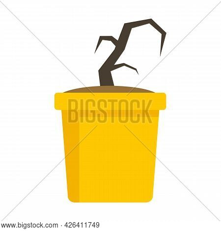 Garbage Plant Pot Icon. Flat Illustration Of Garbage Plant Pot Vector Icon Isolated On White Backgro