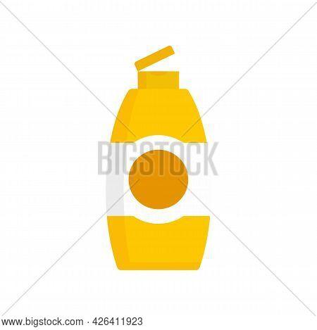 Used Shampoo Bottle Icon. Flat Illustration Of Used Shampoo Bottle Vector Icon Isolated On White Bac