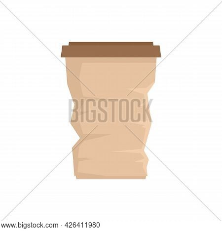 Used Coffee Cup Icon. Flat Illustration Of Used Coffee Cup Vector Icon Isolated On White Background