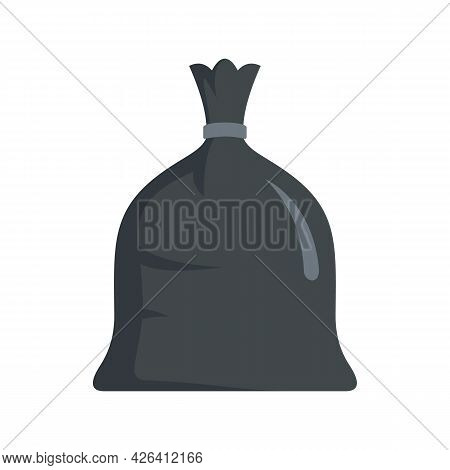 Garbage Bag Icon. Flat Illustration Of Garbage Bag Vector Icon Isolated On White Background