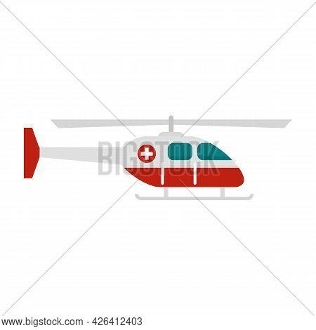 Alert Ambulance Helicopter Icon. Flat Illustration Of Alert Ambulance Helicopter Vector Icon Isolate