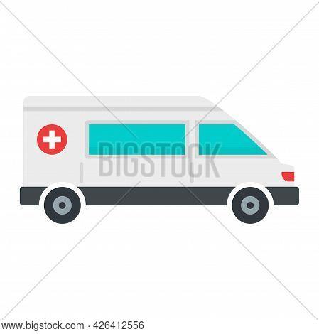 Urgent Ambulance Icon. Flat Illustration Of Urgent Ambulance Vector Icon Isolated On White Backgroun