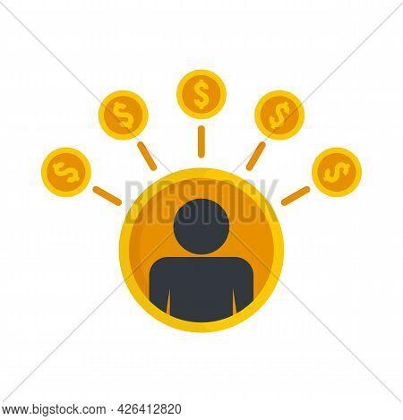 Crowdfunding Group Icon. Flat Illustration Of Crowdfunding Group Vector Icon Isolated On White Backg