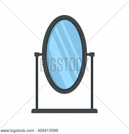 Table Mirror Icon. Flat Illustration Of Table Mirror Vector Icon Isolated On White Background