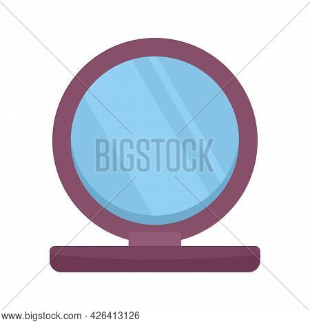 Plastic Mirror Icon. Flat Illustration Of Plastic Mirror Vector Icon Isolated On White Background
