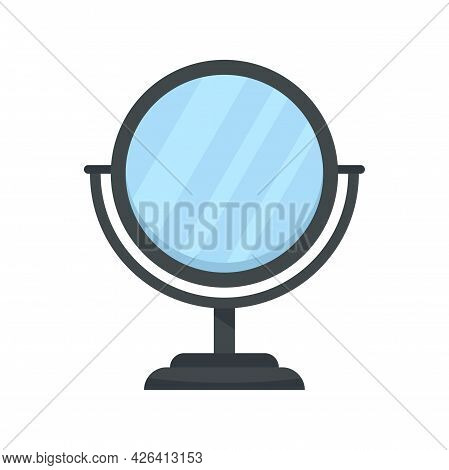 Cosmetic Mirror Icon. Flat Illustration Of Cosmetic Mirror Vector Icon Isolated On White Background