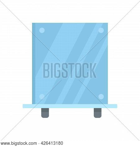 Dressing Room Mirror Icon. Flat Illustration Of Dressing Room Mirror Vector Icon Isolated On White B