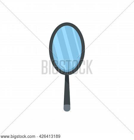 Woman Hand Mirror Icon. Flat Illustration Of Woman Hand Mirror Vector Icon Isolated On White Backgro