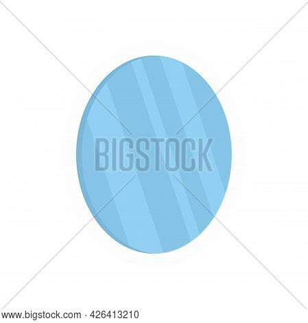 Old Mirror Icon. Flat Illustration Of Old Mirror Vector Icon Isolated On White Background