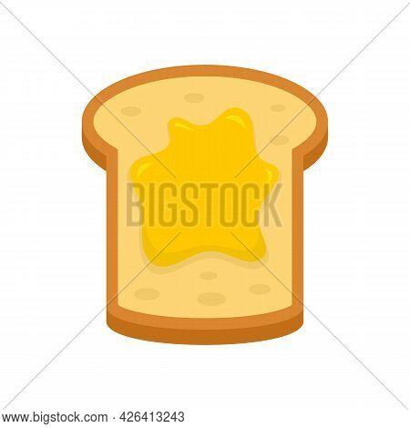 Jam Toast Icon. Flat Illustration Of Jam Toast Vector Icon Isolated On White Background