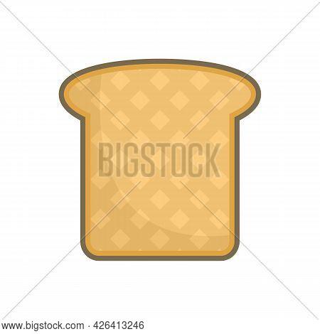 Sandwich Toast Icon. Flat Illustration Of Sandwich Toast Vector Icon Isolated On White Background