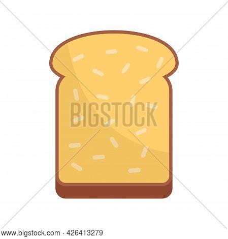 Breakfast Toast Icon. Flat Illustration Of Breakfast Toast Vector Icon Isolated On White Background