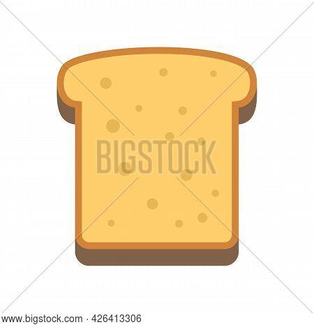 Tasty Toast Icon. Flat Illustration Of Tasty Toast Vector Icon Isolated On White Background
