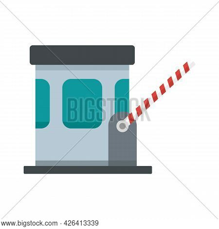 Toll Road Icon. Flat Illustration Of Toll Road Vector Icon Isolated On White Background