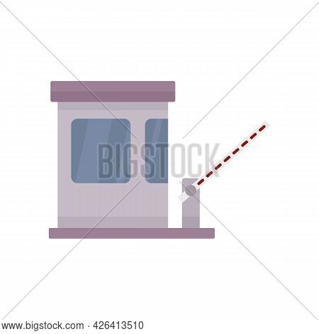 Highway Toll Road Icon. Flat Illustration Of Highway Toll Road Vector Icon Isolated On White Backgro
