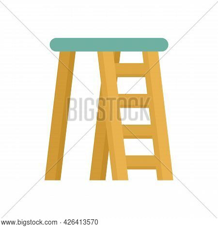 Room Ladder Icon. Flat Illustration Of Room Ladder Vector Icon Isolated On White Background