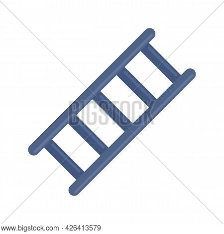 Metal Ladder Icon. Flat Illustration Of Metal Ladder Vector Icon Isolated On White Background