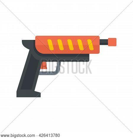 Shotgun Blaster Icon. Flat Illustration Of Shotgun Blaster Vector Icon Isolated On White Background