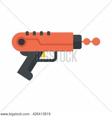 Ray Blaster Icon. Flat Illustration Of Ray Blaster Vector Icon Isolated On White Background