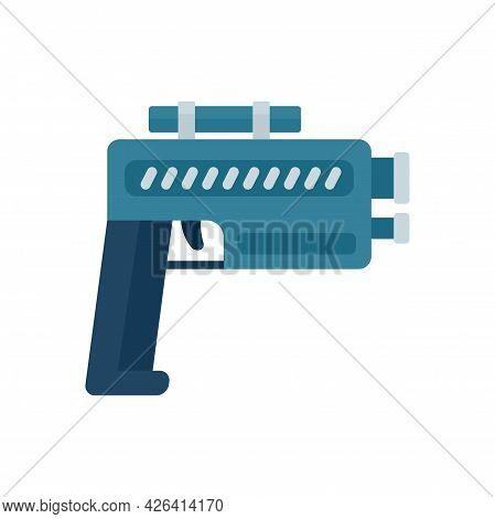 Pistol Blaster Icon. Flat Illustration Of Pistol Blaster Vector Icon Isolated On White Background