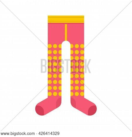 Kid Tights Icon. Flat Illustration Of Kid Tights Vector Icon Isolated On White Background