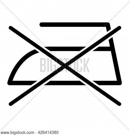 Don T Iron Flat Icon Isolated On White Background. No Ironing Symbol. Machine Vector Illustration .