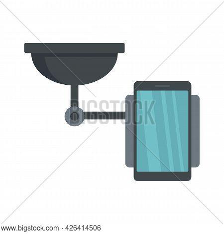 Mobile Phone Holder Icon. Flat Illustration Of Mobile Phone Holder Vector Icon Isolated On White Bac