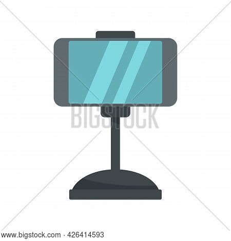 Smartphone Car Holder Icon. Flat Illustration Of Smartphone Car Holder Vector Icon Isolated On White