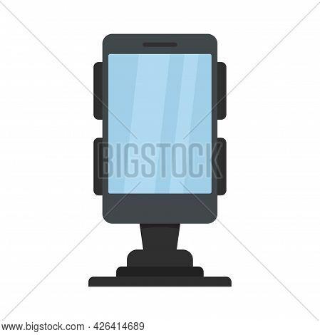 Business Phone Holder Icon. Flat Illustration Of Business Phone Holder Vector Icon Isolated On White