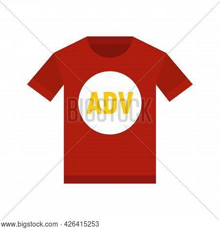 Advertising Tshirt Icon. Flat Illustration Of Advertising Tshirt Vector Icon Isolated On White Backg