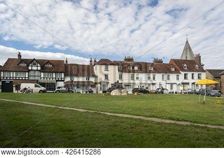 Westerham, Kent, Uk August 2020 - Buildings In The Village Of Westerham, Kent, Uk