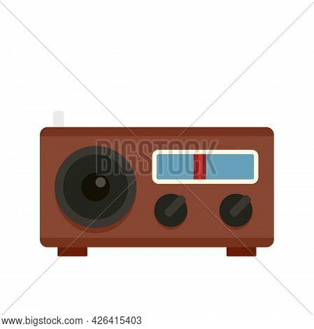 Radio Icon. Flat Illustration Of Radio Vector Icon Isolated On White Background
