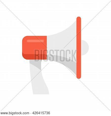 Megaphone Icon. Flat Illustration Of Megaphone Vector Icon Isolated On White Background