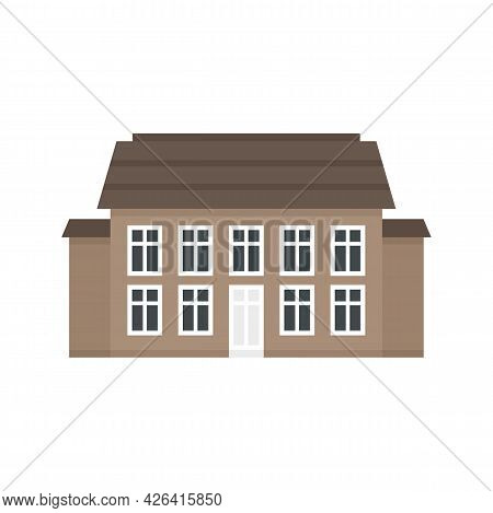 Old Cottage Icon. Flat Illustration Of Old Cottage Vector Icon Isolated On White Background