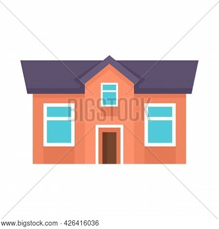 Town Cottage Icon. Flat Illustration Of Town Cottage Vector Icon Isolated On White Background