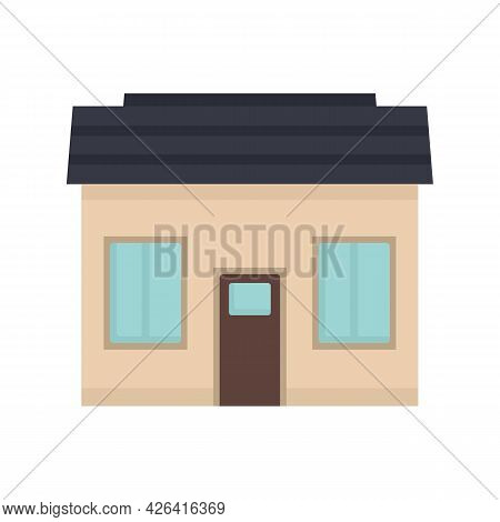 Small Cottage Icon. Flat Illustration Of Small Cottage Vector Icon Isolated On White Background