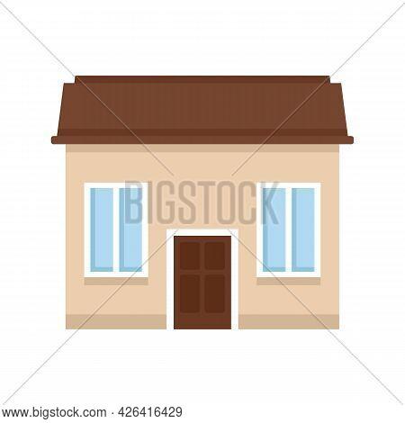 Property Cottage Icon. Flat Illustration Of Property Cottage Vector Icon Isolated On White Backgroun