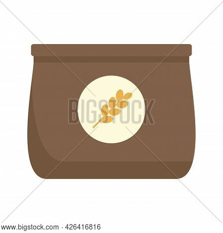 Flour Package Icon. Flat Illustration Of Flour Package Vector Icon Isolated On White Background